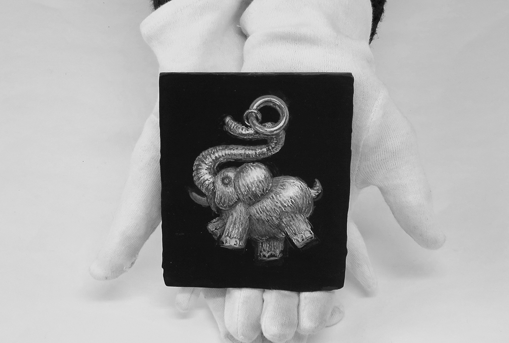 zwart-wit-olifant