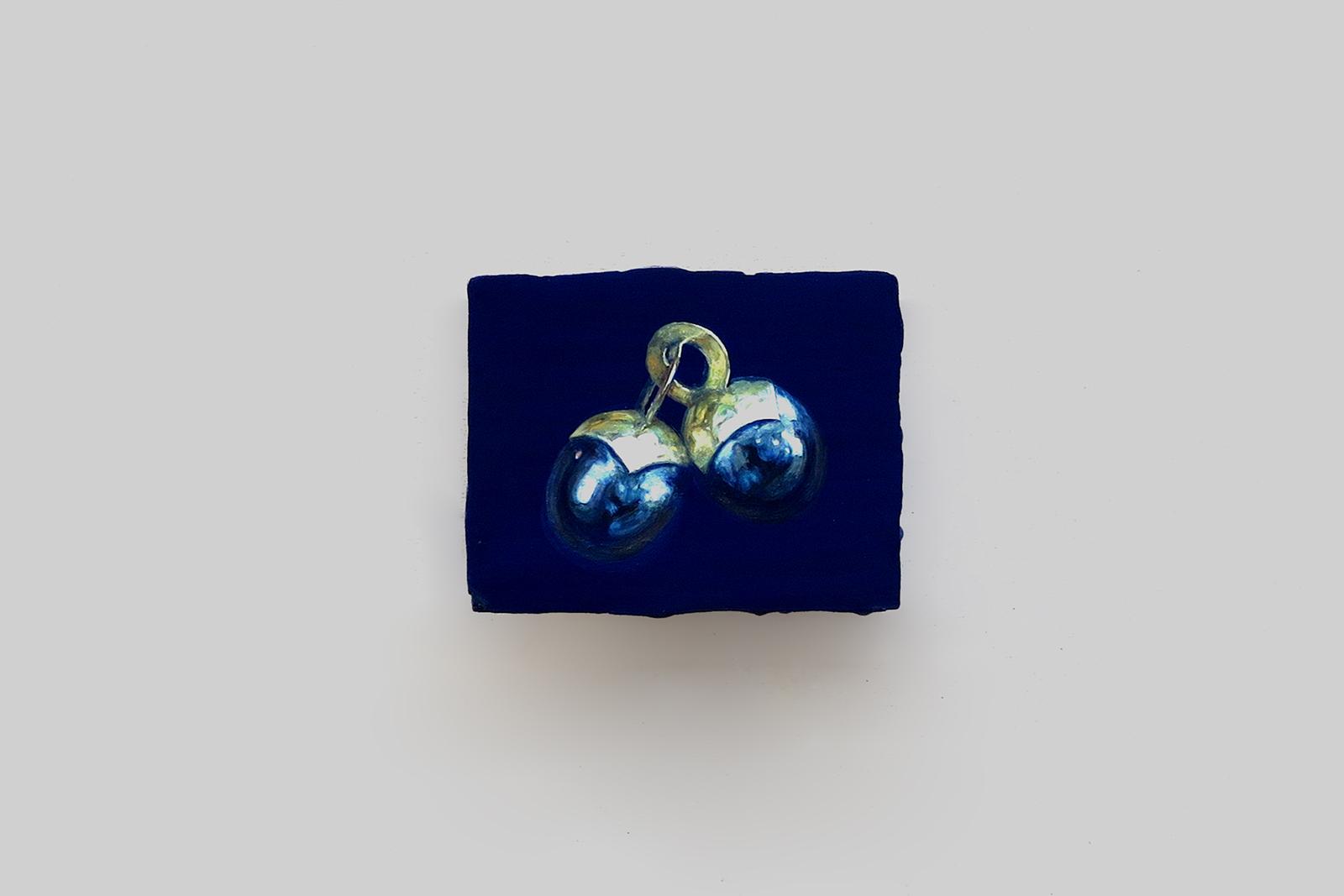 'black pearls' 2015, tempera/paneel, 11 x 14 cm