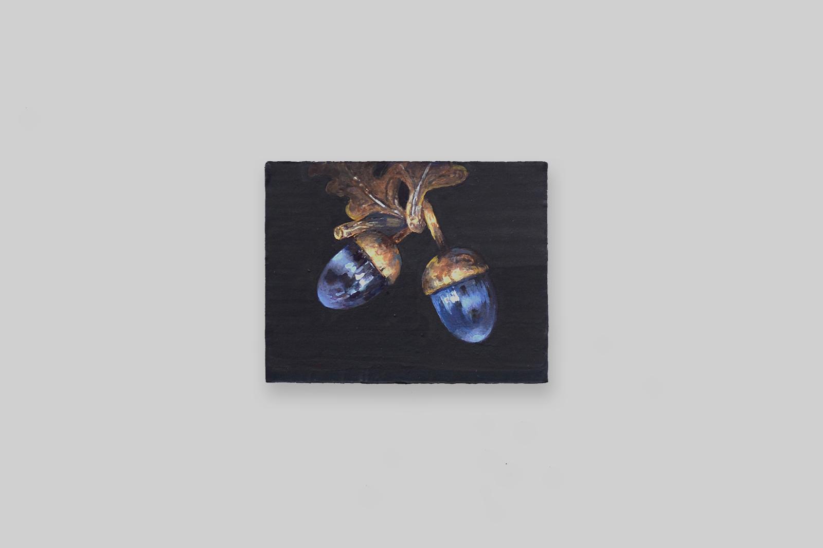 'eikeltjes', 2010, tempera/paneel, 11 x 14 cm