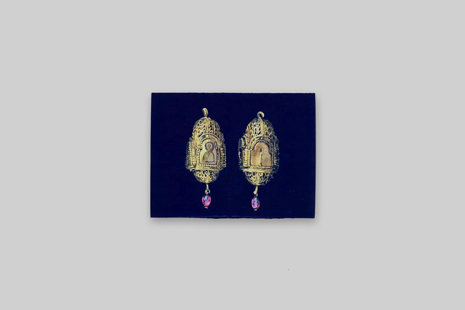 'toermelijn', 2012, tempera/paneel, 11 x 14,5 cm
