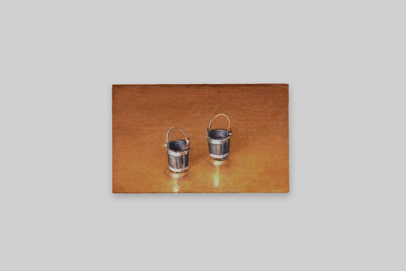 'emmertjes', 2010, olieverf/paneel, 11 x 18 cm