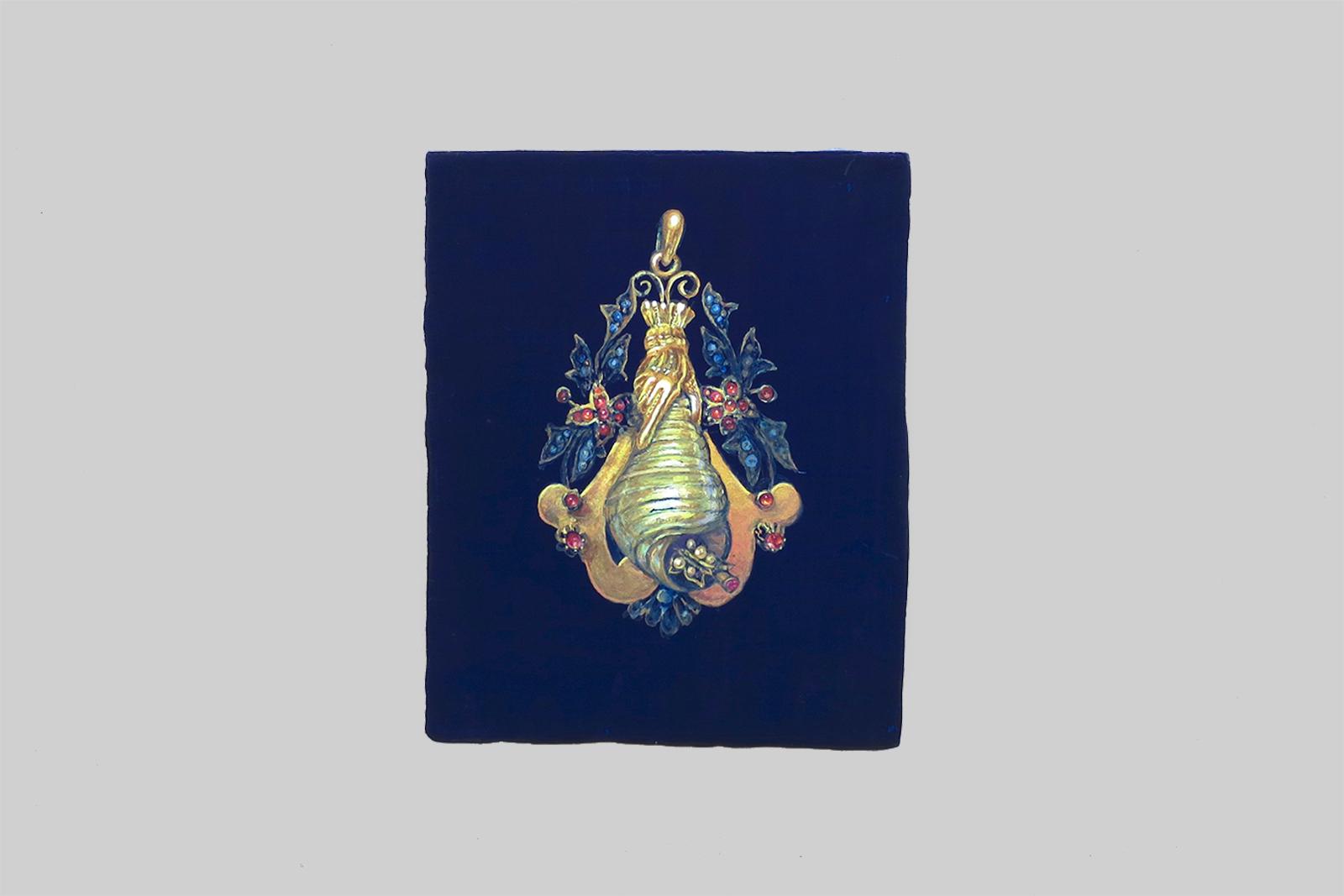 a joia da avó, 2010, tempera/paneel, 18 x 14,5 cm
